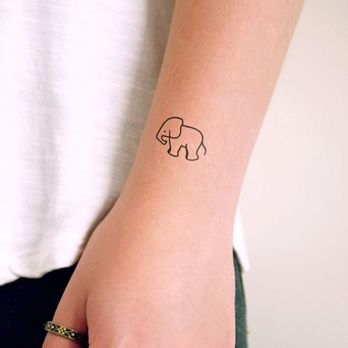 Small Elephant Tattoo