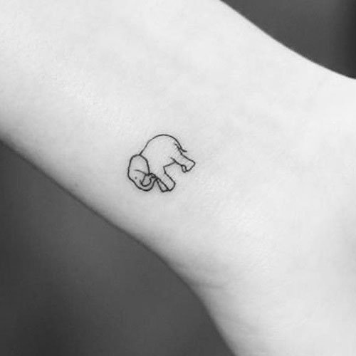 Tiny Elephant Tattoo Designs