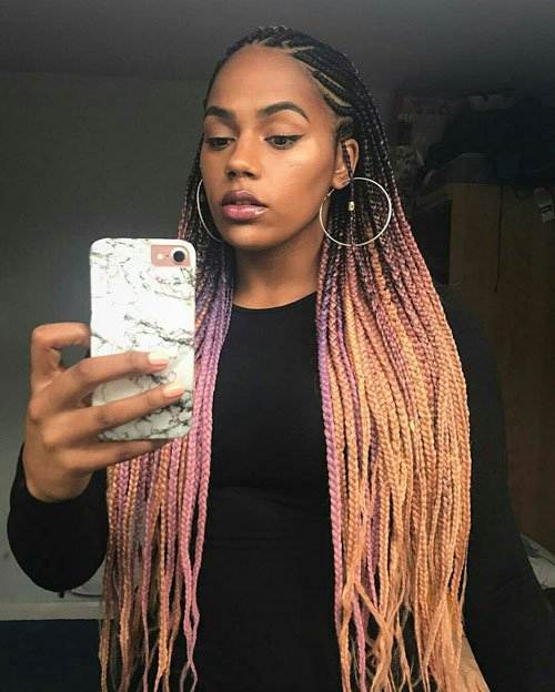 Two-Tone Lemonade Braids