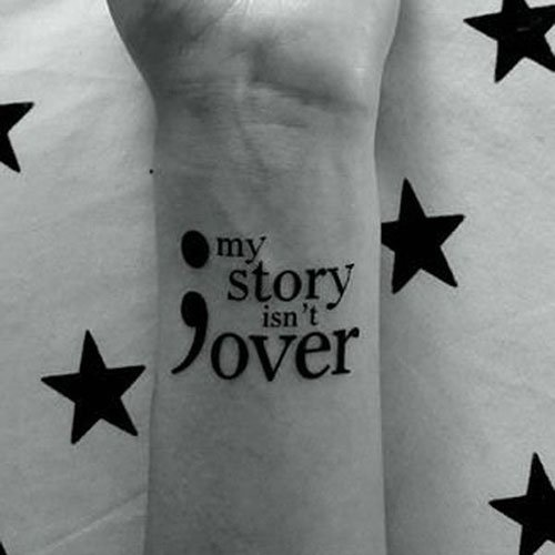 Unique Semicolon Tattoo Designs