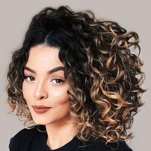 Asymmetrical Curly Hairstyles For Women