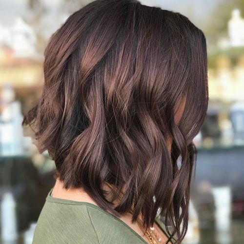 Asymmetrical Mid Length Hairstyles