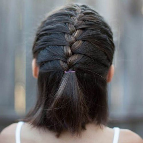 Braided Updo For Short Fine Hair