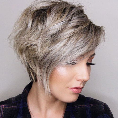 Choppy Layered Asymmetrical Haircut For Short Hair