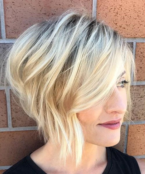 Cute Asymmetrical Bob with Side Bangs