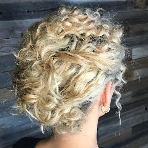 Cute Curly Hair Updo Hairstyles