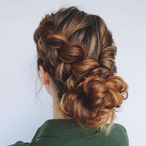 Cute Fancy Dutch Braid Updo Hairstyles For Short Hair
