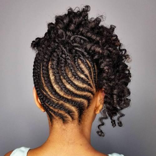Cute Flat Twist Updos For Short Black Hair