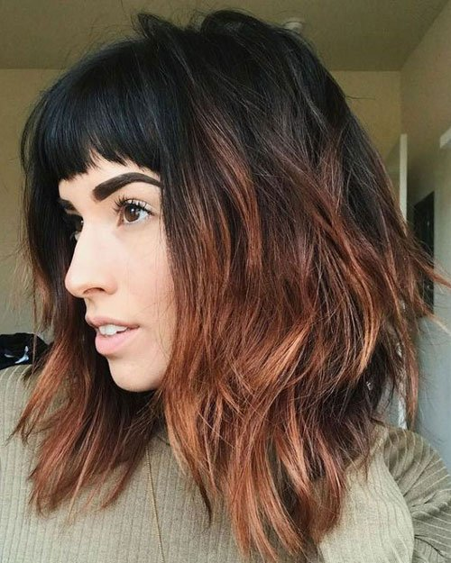 Cute Long Bob with Bangs