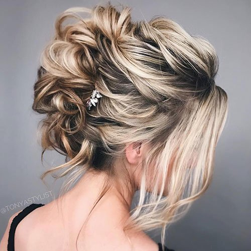 Cute Messy Updos For Short Curly Hair