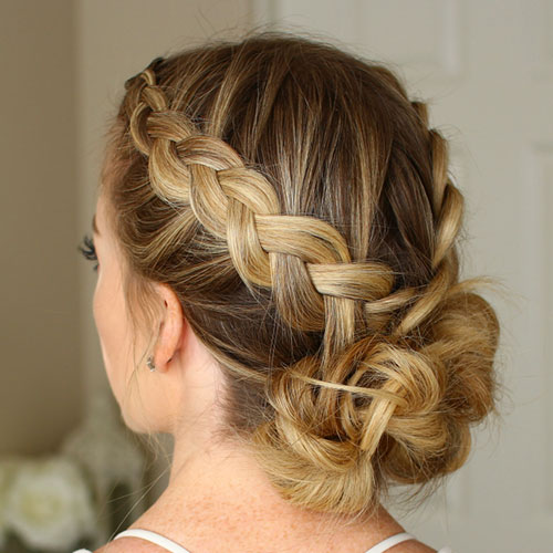 Cute Straight Hair Updo Hairstyles