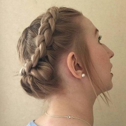 Dutch Halo Braided Updos For Short Hair