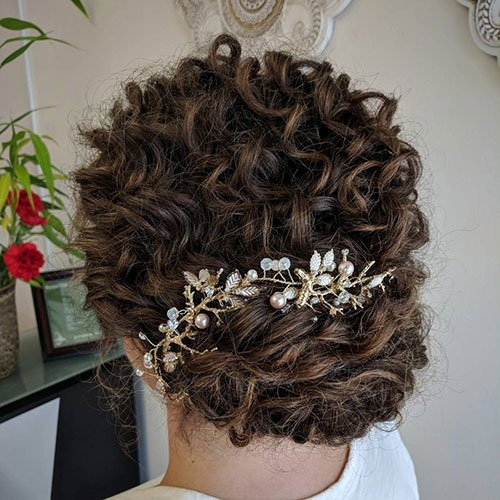 Formal Updos For Short Curly Hair