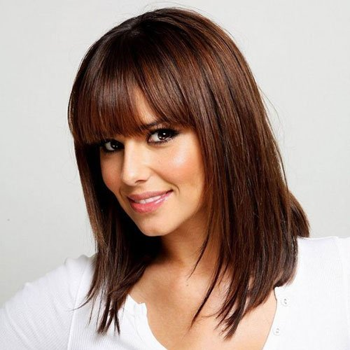Lob Long Bob Haircuts with Bangs