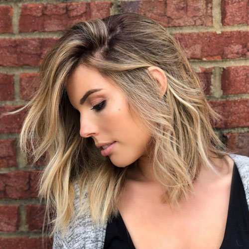 Long Bob Hairstyle For Oval Face