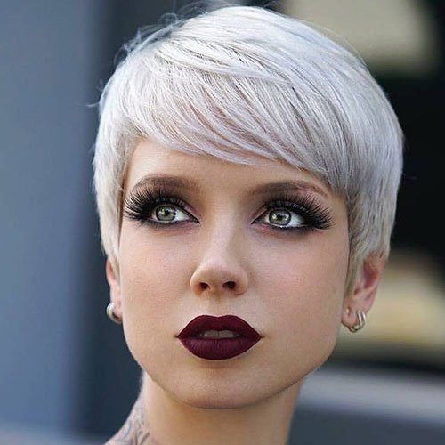 Platinum Blonde Pixie Cut