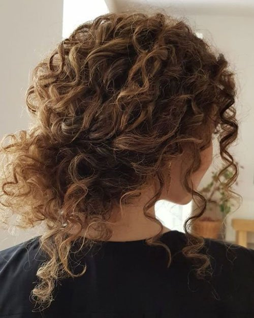 Sexy Updos For Short Curly Hair