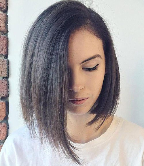 Straight Hair Asymmetrical Haircuts For Women