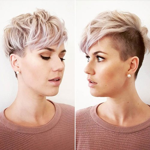 Very Short Asymmetrical Undercut Hairstyle For Women