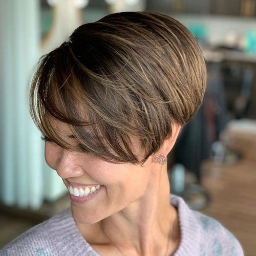 Asymmetric Pixie Cut For Thick Hair