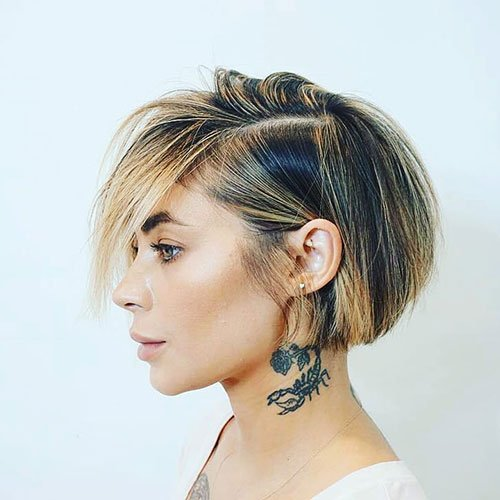 Best Short Inverted Bob with Bangs