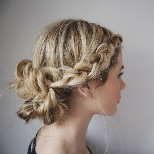 Braided Buns For Short Hair