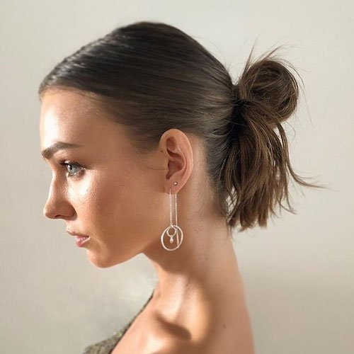 Bun Hairstyle For Short Hair