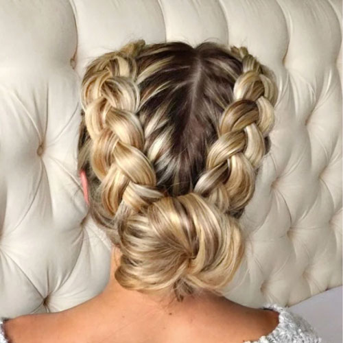 Cute Buns with Braids