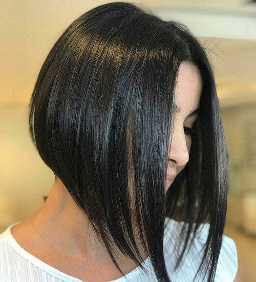 Cute Long Inverted Bob