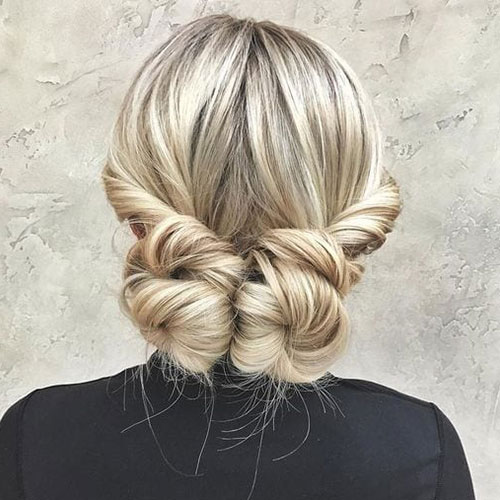 Cute Two Bun Hairstyles