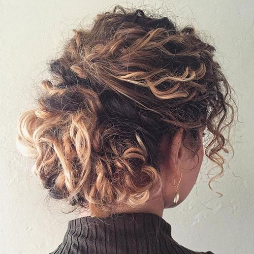 Cute Updo For Short Naturally Curly Hair