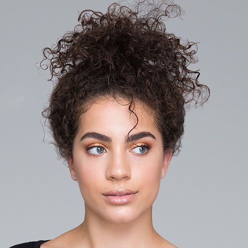 Frizzy Short Curly Updo