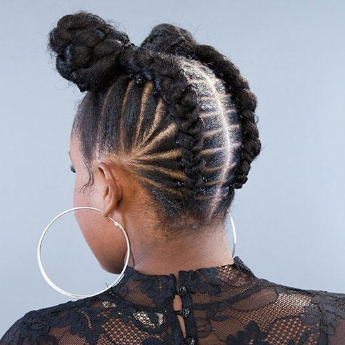 Goddess Braids on Short Hair