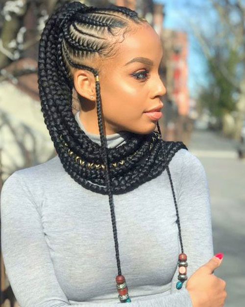 Goddess Braids to the Back