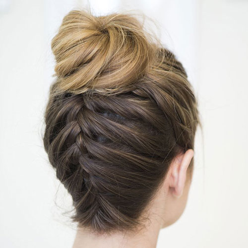 High Bun With Braid