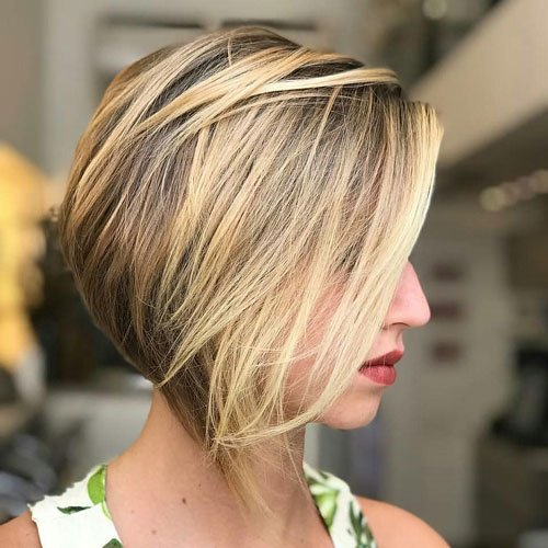 Long Bangs with Short Inverted Bob