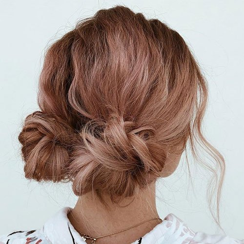 Messy Pigtail Buns