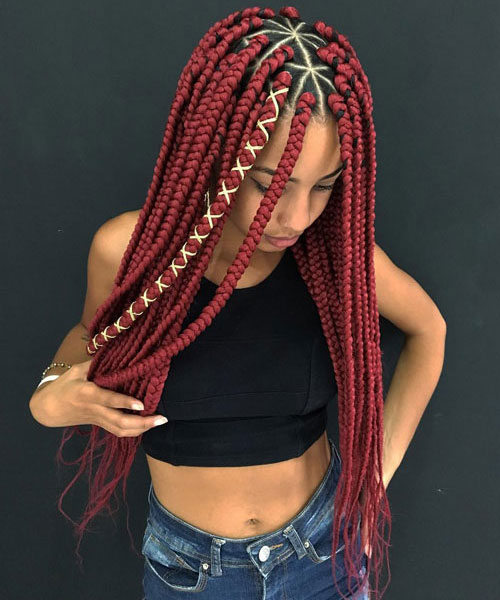 Red Goddess Braids