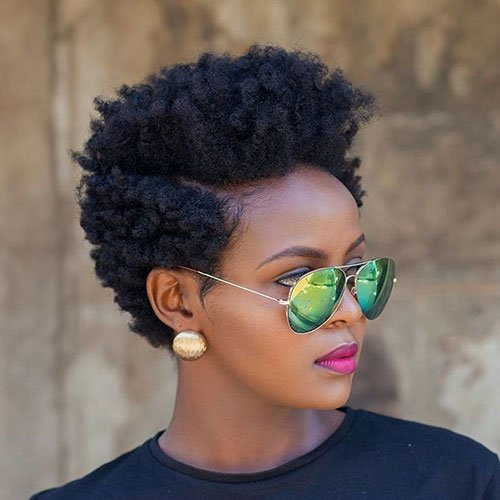 Short Afro Hairstyle
