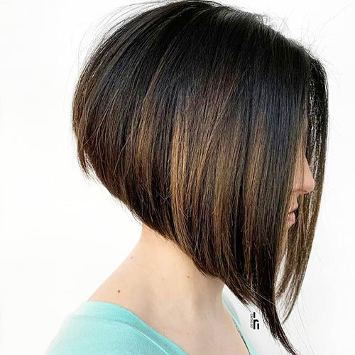 Short Angled Bob For Fine Hair