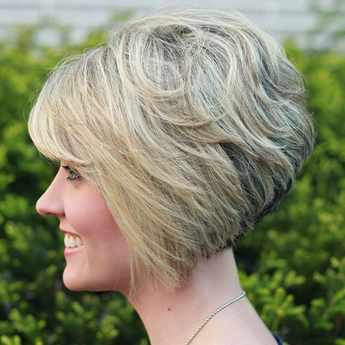 Short Stacked Inverted Bob with Bangs