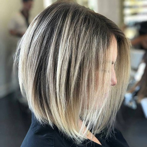 Shoulder-Length Inverted Bob Haircut