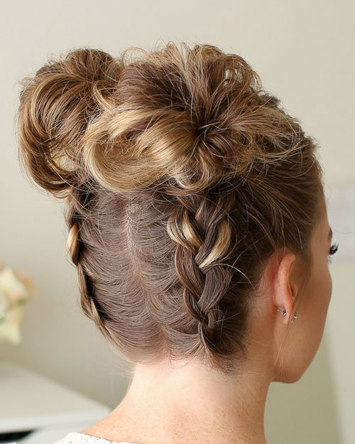 Two Buns Hairstyle