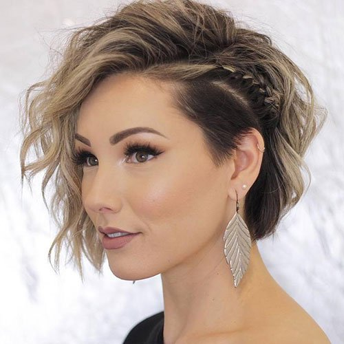 Undercut Bob For Thick Hair