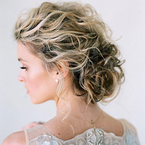 Updo For Short, Thick Curly Hair