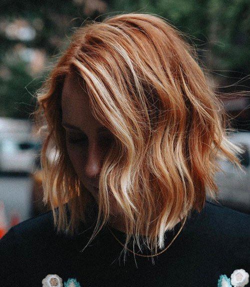 Auburn Hair with Blonde Highlights