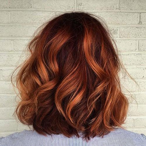 Auburn Hair with Lowlights