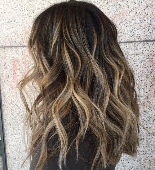 Balayage Highlights on Black Hair