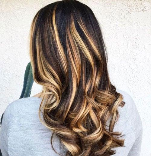 Black Hair with Blonde Streaks