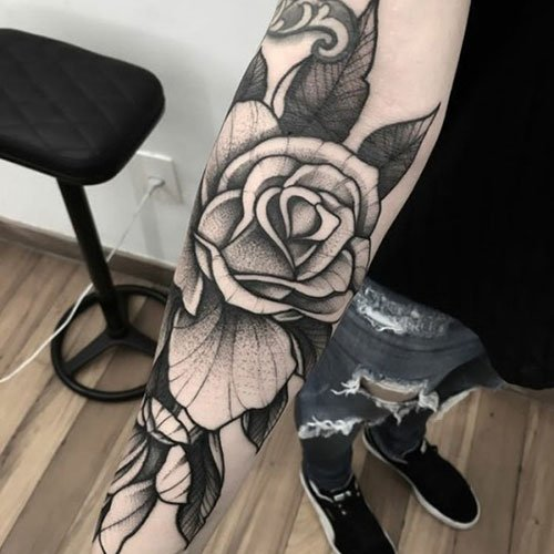Black and White Rose Tattoo Ideas
